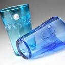 "Ryukyu glass ""Ocean' free tumbler"