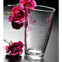 Entering name heart glass curve tumbler (entering gift / gift set / family celebration / marriage family celebration / wedding ceremony / gift in return / present / Father's Day / Mother's Day / respect for the old / sixtieth birthday celebration / name card / name case / name / year-end present / furoshiki / packing)