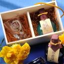Name gifts put the Kokura Castle story ginjo 180 ml & glass set