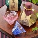 Present Kokura Castle story invited toast Fuji sake glass 3 points & ginjo 180 mlx 2 book set