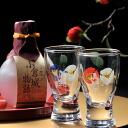 Name gifts put Camellia ginjo sake Cup of Kokura Castle story 180 ml gift set