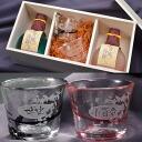 Name gifts put the Kokura Castle story ginjo sake 180 mlx 2 point & Tsu 軽び. PVC cold sake glass, set of 2