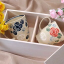 Hasami see ware rose pattern mug past (/ gifts / gift set / 内 祝 I / marriage 内 祝 I / wedding / return / gifts / father's day / mother's day / grandparents / 60th birthday celebration / tag / name put the name into / gifts / wrapping / packaging)