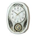 리듬 시계 뮤직 클럭 라디오 기계 시계 스몰 월드 노엘 M スワロフスキーエレメント 사용 4MN513RH03upup7