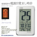 Rhythm clock radio alarm clock alarm clock smart coat S temperature humidity meter with! White 8RZ139-003