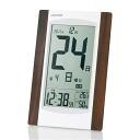 What I did to a graduation souvenir? Credit with the digital block calendar 電波時計温, hygrometer establishes it; combined use alarm clock アデッソ KW9256