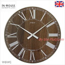 Britain's leading contemporary leak lock ステーションウォールク lock Walnut デザインク rock IN HOUSE in-house wall clock 40 cm W6WGfs3gm