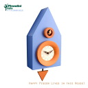 Cuckoo clock a stylish arrived from Italy! Cuckoo clock wooden clock P-114-DARK-BLUE blue manufactured by Pirondini ( pylondini )