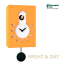 Italian handmade design clock cuckoo clock cuckoo clock totally P-116-YELLOW NIGHT & DAY fs3gm made in the wall clock Pirondini (pyrone Dini) company which is art