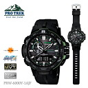CASIO Casio PRO TREK proto Lec digital-analogue clock model slender access PRW-6000Y-1AJF men watch