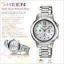 Casio scene CASIO SHEEN Lady's watch Swarovski adoption! SHE-7506D-7AJFupup7