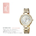 CITIZEN citizen XC cross sea EC1042-51 A HAPPY FLIGHT (happy flight series) TITANIA line eco-drive radio watch ladies arms watches