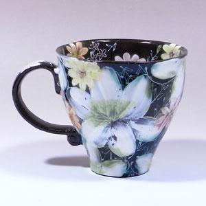 消息卡免费杯手写和手工制作的白色的画花环绕青森县 kobo 礼品赠品