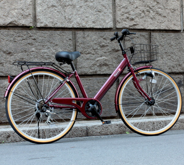 前カゴ・荷台付き 自転車 ...