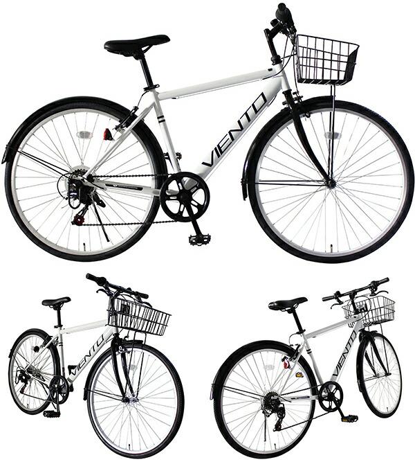 自転車の 自転車 クロスバイク 泥除け : カゴ付き クロスバイク 泥除け ...