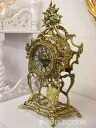 From Portugal the bronze clock with the pendulum