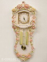 Wall hangings clock Rose clock of Paris Zeno