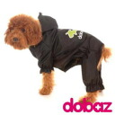 [email service free shipping] DOBAZ( ドバズ) ドバズレインコート (black) one co-clothes dog clothes dogware (S - 2XL size) [smtb-MS 】《》]