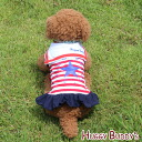 HUGGY BUDDY's (ハギーバディーズ) Star print マリンワン piece (red x Navy) dog clothes dog clothes fake ( XS-XL size ) 《 05P12Jul14 》