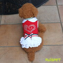 ☆Frill one piece / red (XS-XL size) one co-clothes dog clothes dogware 《 05P20Sep14 》 of Rakuten ranking winning prize ☆ glitter heart and the ribbon