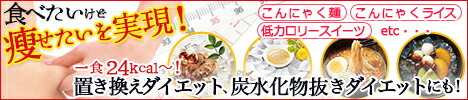 一食24キロカロリー〜こんにゃく麺、こんにゃくライス、低カロリースイーツ