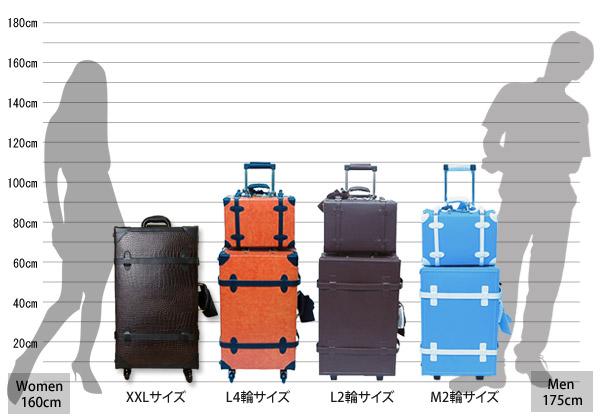 HANAism かわいい キャリーケース レトロ キャリーバッグ 旅行かばん トランクケース Mサイズ