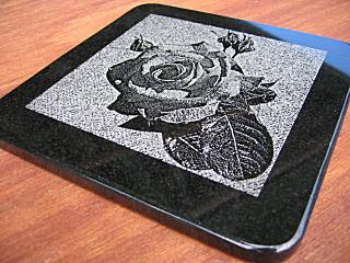 石のデザインマウスパッド バラ