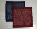 刺子 방석 커버 (삼각형 모양)/55 × 59 銘仙 판