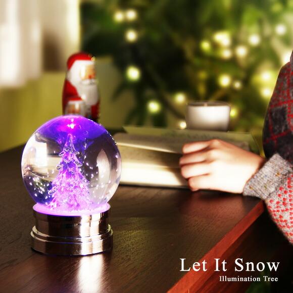 Plastic Snow Globe Let It Snow