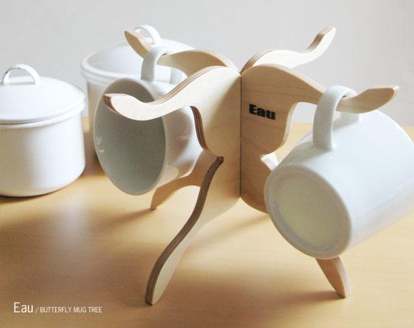 Eau BUTTERFLY MUG TREE(オー/バタフライマグツリー/テーブルウェア/食器・カトラリー/キッチン雑貨/北欧/おすすめギフト)