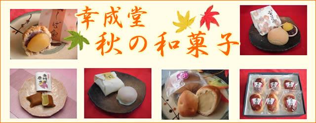 幸成堂秋の和菓子
