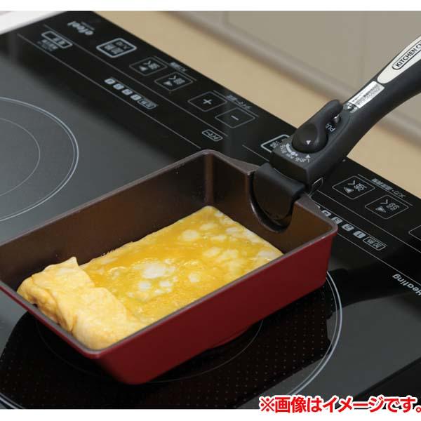 ダイヤモンドコートパンIH用 エッグパン H-IS-EG オレンジ アイリスオーヤマ