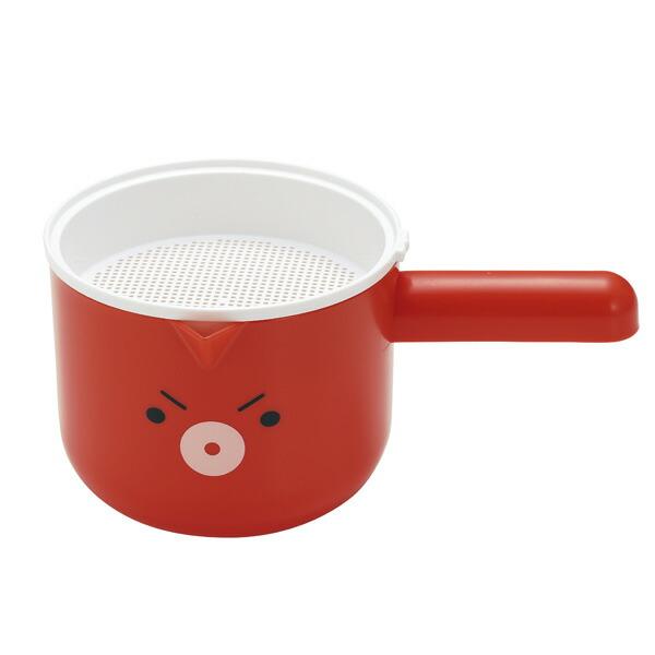 貝印 まいど本舗 タコやん 混ぜて注げる粉つぎボウルセット(粉つぎ・粉ふるい・生地混ぜマドラー) DS1021