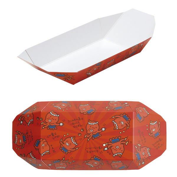 貝印 まいど本舗 タコやん たこ焼き舟皿(5枚入り) DS1022