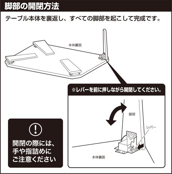 開閉の際には、手や指詰めにご注意ください。