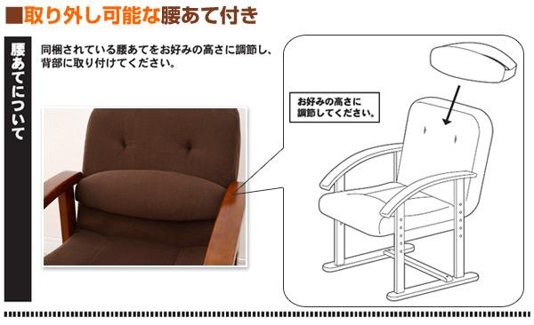 山善(YAMAZEN)組立て要らず立ち上がり楽々高座椅子防幕付腰あて付KMZC-55(MBR)BBモカブラウン