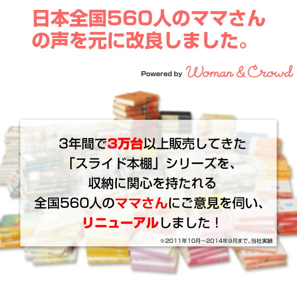 日本全国560人のママさんの声を元に改良しました。