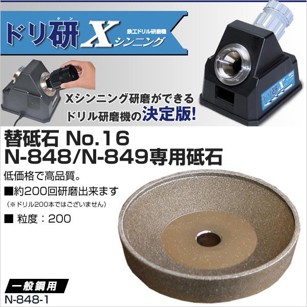 ニシガキ工業ドリ研Xシンニング用替砥石No.16N-848/N-849専用砥石N-848-1