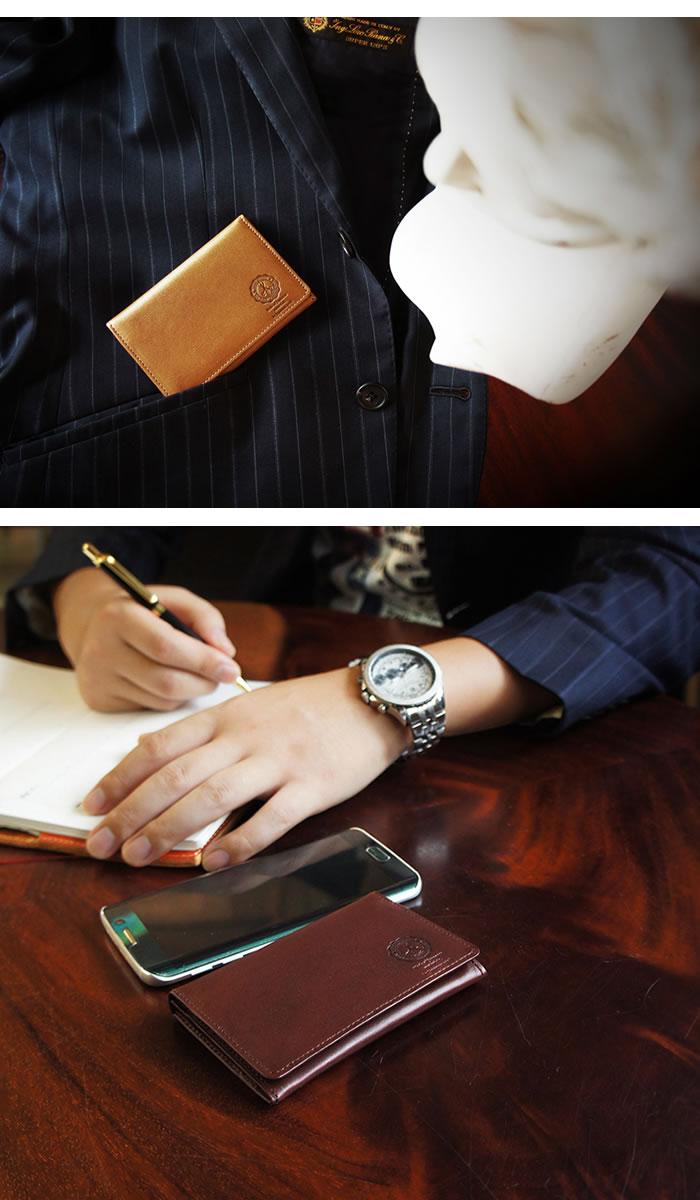 説明2|名刺入れ カードケース メンズ 本革 二つ折り ベーシック 姫路レザー オイルレザー レザー 日本製
