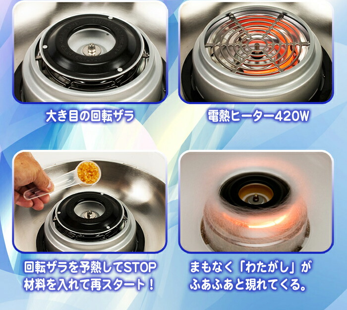 how to clean burnt sugar from cotton machine