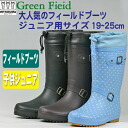 "Green field 65 for junior size rubber boots in the popular series ""Midsummer."""