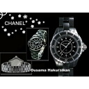 CHANEL Chanel watches J12 Black ceramic 12 p H1625 ladies