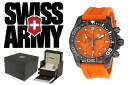 VICTORINOX Victorinox SWISS ARMY watch professional dive master 500 black ice chronograph 241423 Orange mens