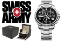 241453 VICTORINOX fish basket avian Knox SWISS ARMY watch black X silver men