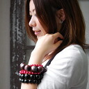 ●●Volume accessories ♪ vivid color such as the art object is totally accent, item ◆ dicokick Wood beads Jennie bracelet of extreme popularity デコキックオリジナル