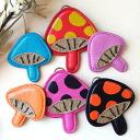 Mushroom size key chain or strap going past ◆ mushroom x mushroom brooch
