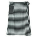 Nuance horizontal stripe winding skirt