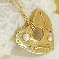 It was baked deliciously! ? ◆ pancake pendant cute the pretty heart-shaped volume top