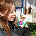 Colorful knit gloves became a motif of alpaca and others point! 派さん is a cute pair of gloves handmade feeling unique to recommended was winter accessories! To present recommendations ◆ ethnic alpaca wool gloves [colorful]