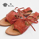 Individual ethnic-like laceup tong sandals! Real leather craft shoes using feeling of vintage drifting crust wash-leather! Like boots sandals and グラディエーター; ◆ C.I.L. (sea eye L): Leather tape stitch race up sandals